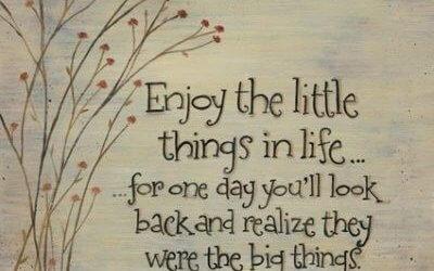 Uživajte v majhnih stvareh