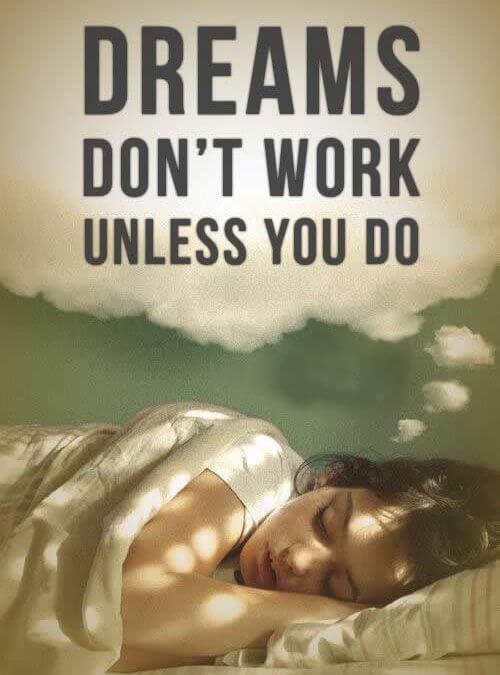 Sanje niso dovolj