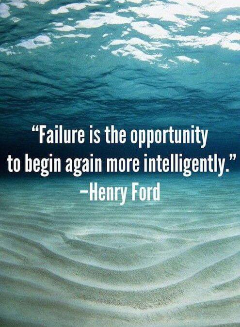 Neuspeh je priložnost za boljši začetek