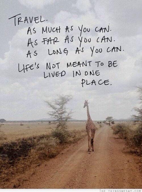 Smisel življenja je potovanje