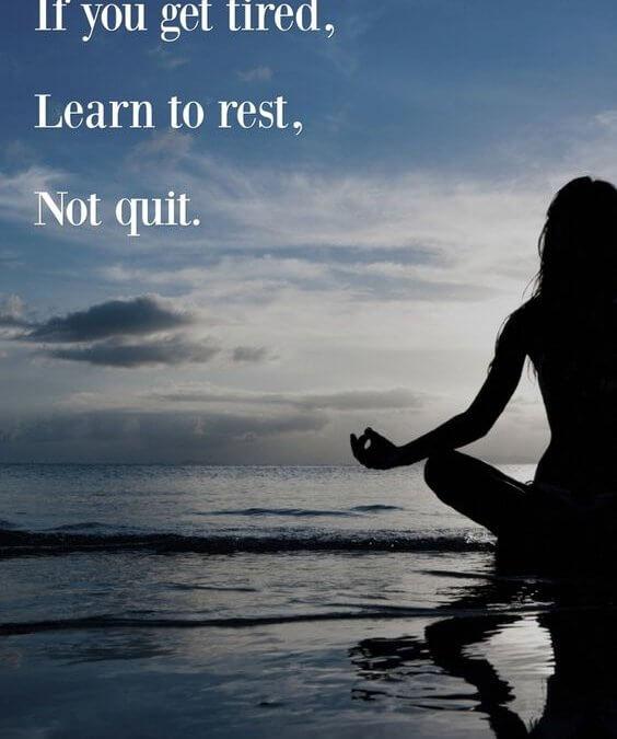 Utrujeni počivajte in ne obupajte