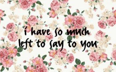 Toliko ti imam za povedati